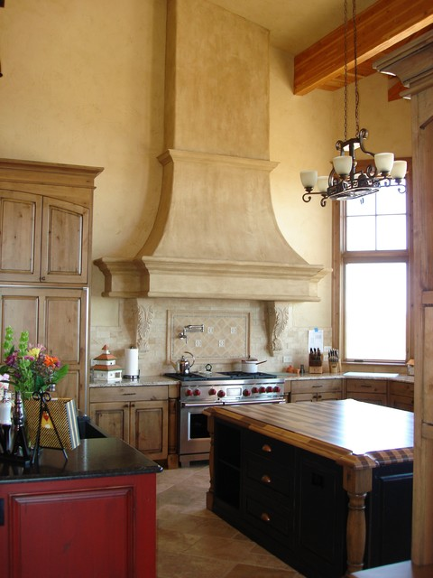 Kitchen High Ceiling Range Hood Detail traditional kitchen