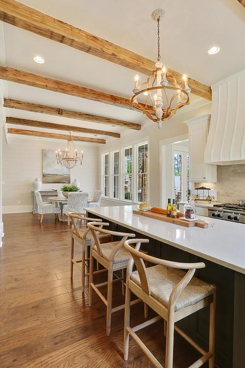 New Orleans style white kitchen