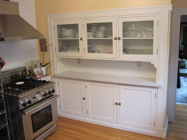 Kitchen Hutch with Reeded Glass Doors traditional-kitchen