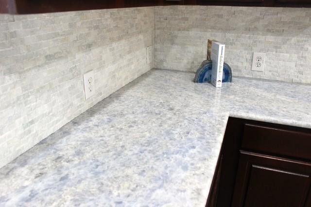 Kitchen Iceberg Blue Quartzite Countertops Modern