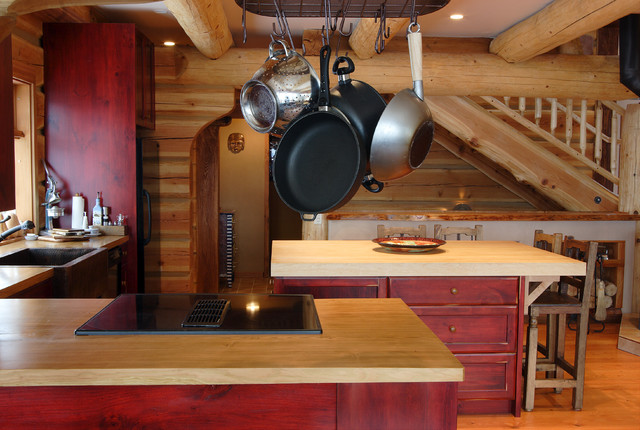 Kitchen Ideas For Log Homes Rustic Kitchen