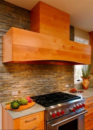 Kitchen in Alder wood featuring Greenfield Cabinetry contemporary-kitchen