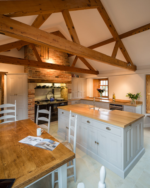 Kitchen In Barn Conversion  Rutland, Leicestershire Traditional Kitchen