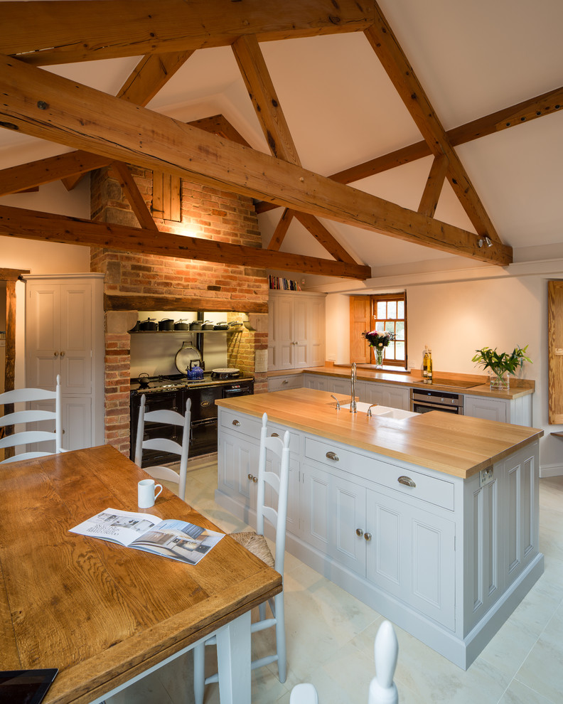 Kitchen In Barn Conversion Rutland Leicestershire Traditional Kitchen Other By Hill Farm Furniture Ltd Houzz