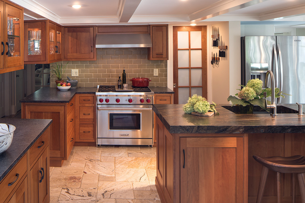 Kitchen In Historical Maplewood Nj Home Traditional Kitchen New York By Clawson Architects Llc