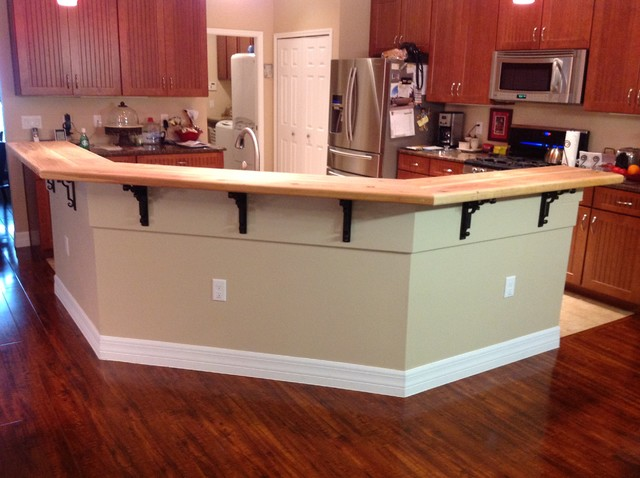 Kitchen Island Bar Top Traditional Kitchen Tampa By Master Carpentry