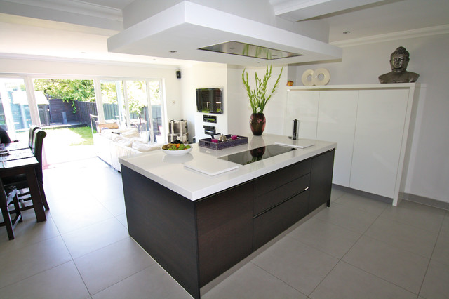 kitchen island ceiling extractor - contemporary - kitchen - london