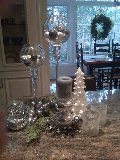 Good Kitchen Island Christmas Decor Traditional Kitchen