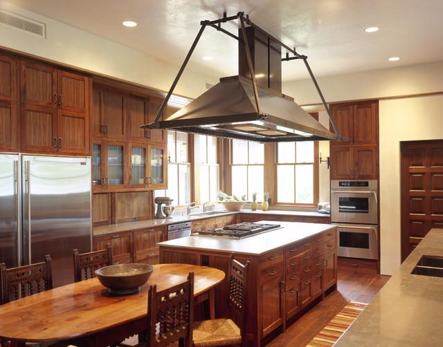 kitchen island hood - Traditional - Kitchen - Austin - by ...
