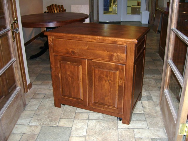 Kitchen Island on wheels - Rustic - Kitchen - Other - by Wood Works by the Lake