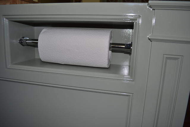 Kitchen Island Paper Towel Holder traditional-kitchen