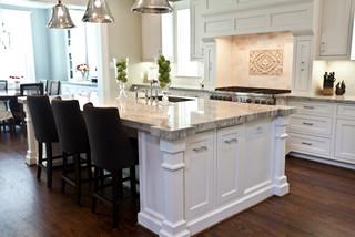 Kitchen Island Transitional Kitchen Houston By