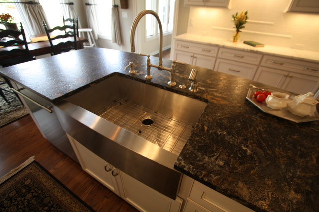 Kitchen Sink Island : Kitchen Island Sink - Traditional - Kitchen - cleveland - by ...