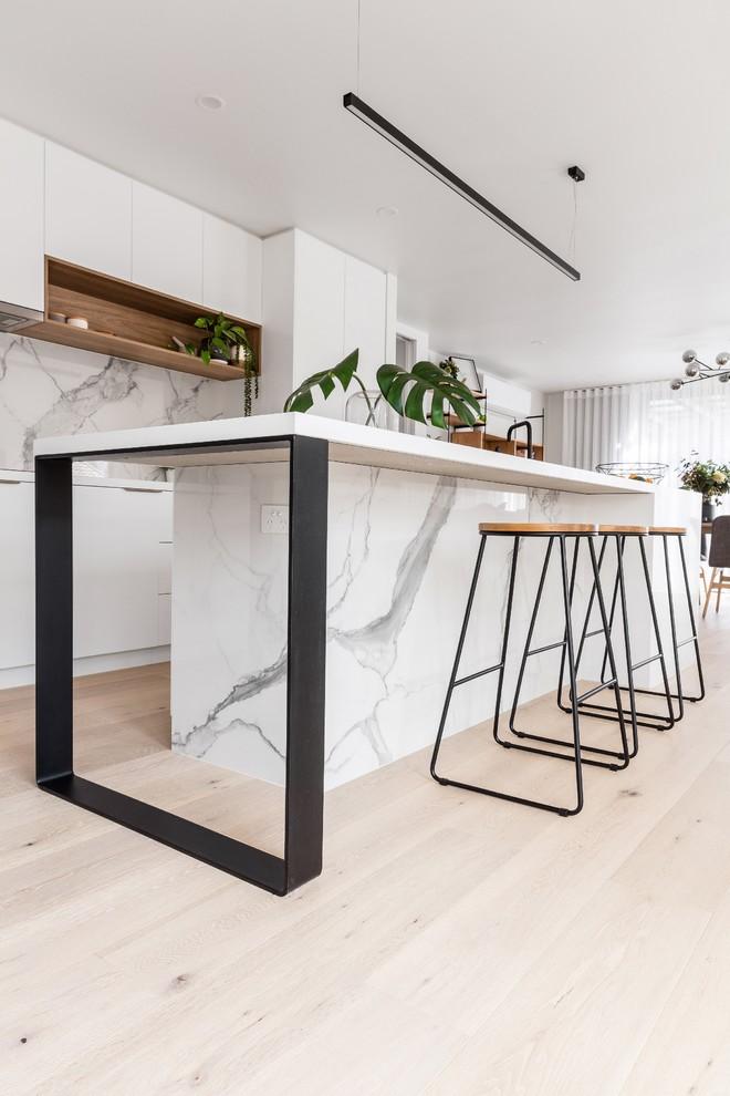 Kitchen Island Square Flat Metal Leg Support Modern Kitchen Melbourne By Hx Design Houzz