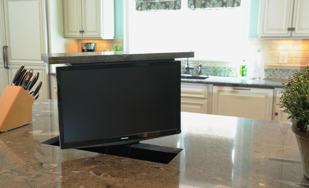 Kitchen Island Tv Lift Traditional Kitchen Nashville