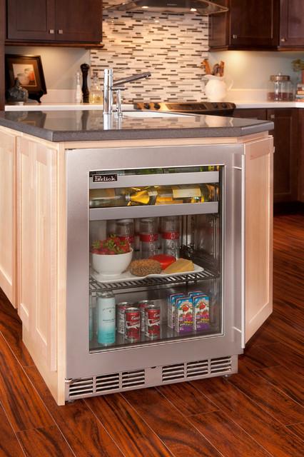 Kitchen Island W Perlick Shallow Depth Refrigeration