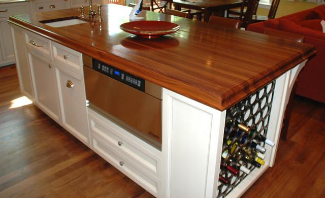 Kitchen Island Wine Storage - Traditional - Kitchen ...
