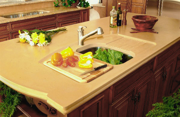 In Cutting Board and Drying Area - Contemporary - Kitchen Countertops ...