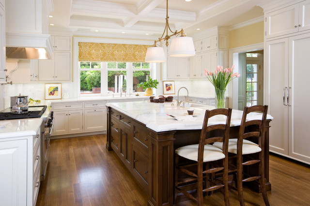 White Kitchen Dark Island dark island white cabinets | houzz
