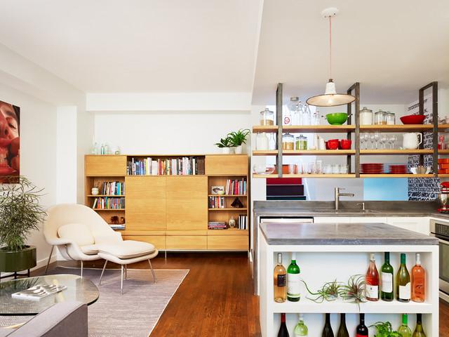 Kitchen Island with Custom Wine Storage - Contemporary ...