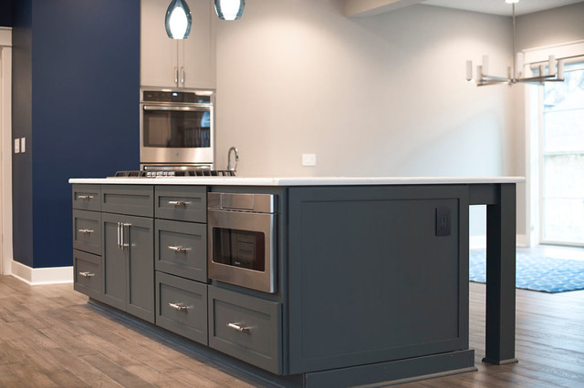 Kitchen Island With Drawer Microwave Modern Kitchen Indianapolis By Housewurks Houzz