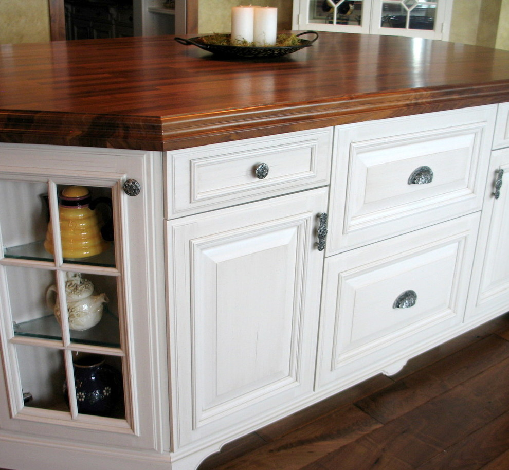 Kitchen Island with Florid Leaves Hardware - Traditional - Kitchen - Milwaukee - by Notting Hill ...