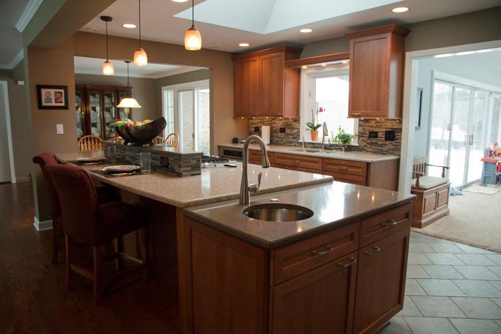 Kitchen Island With Prep Sink Transitional Kitchen Chicago By Dream Kitchens Inc Houzz
