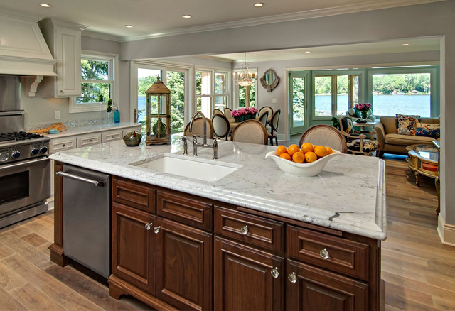 Kitchen Island with sink - Traditional - Kitchen - minneapolis - by Ehlen Creative Communications
