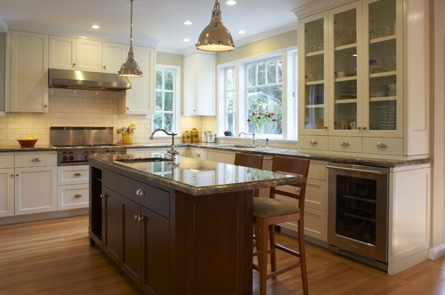 contemporary kitchen design by san francisco general contractor camber construction new kitchen layout  island and lighting   rh   houzz com