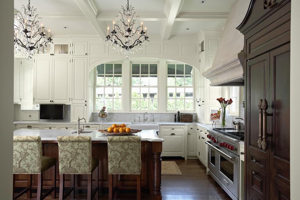 Elegant kitchen photo in Minneapolis with a farmhouse sink