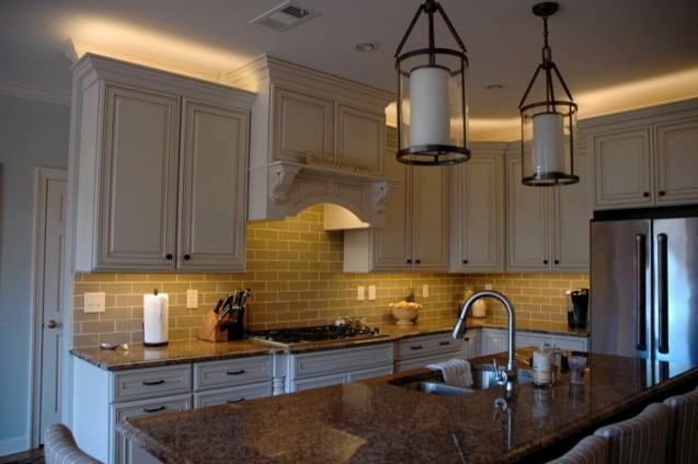 Kitchen led lighting inspired led traditional for Kitchen led lighting