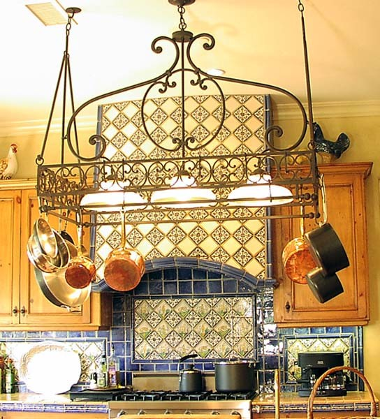 kitchen island pot rack lighting kitchen lighting mediterranean kitchen los angeles 24781