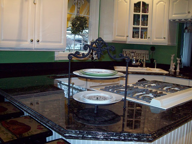 Kitchen Makeover - Painted Formica traditional-kitchen