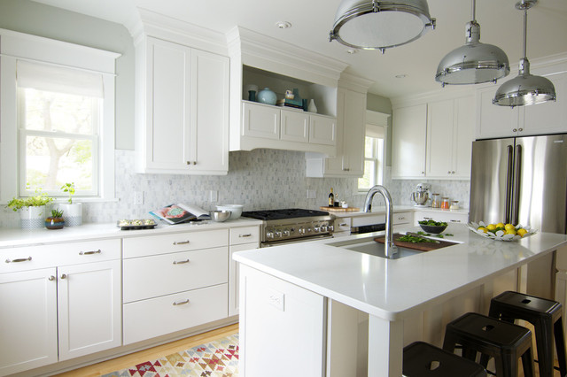 kitchen makeover with aristokraft cabinetry - transitional