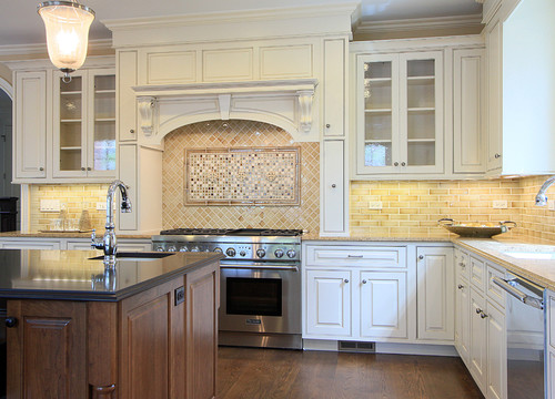 cabinets a cream color? What wood and color is the island? It the top