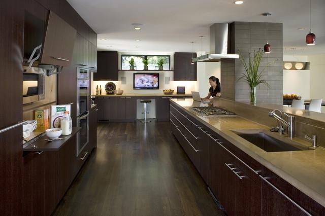 Kitchen microwave cabinet - Contemporary - Kitchen - san ...