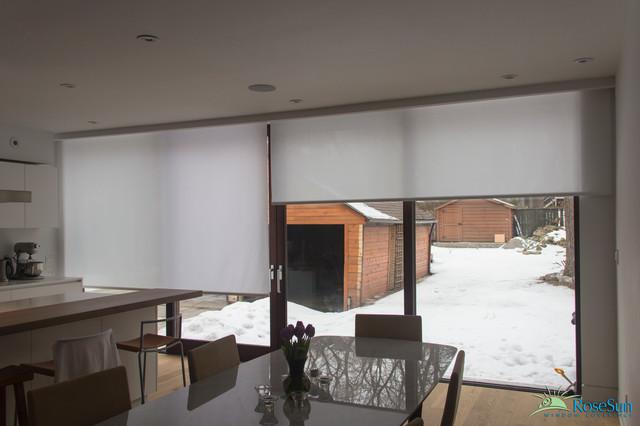 Kitchen Motorized Window Blinds Modern Toronto