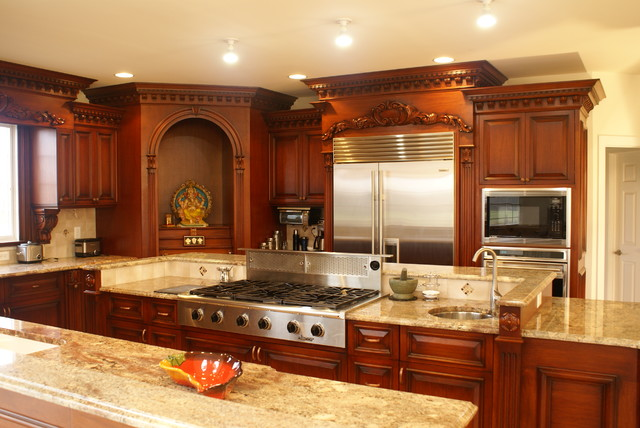 Kitchen nj for Traditional indian kitchen pictures