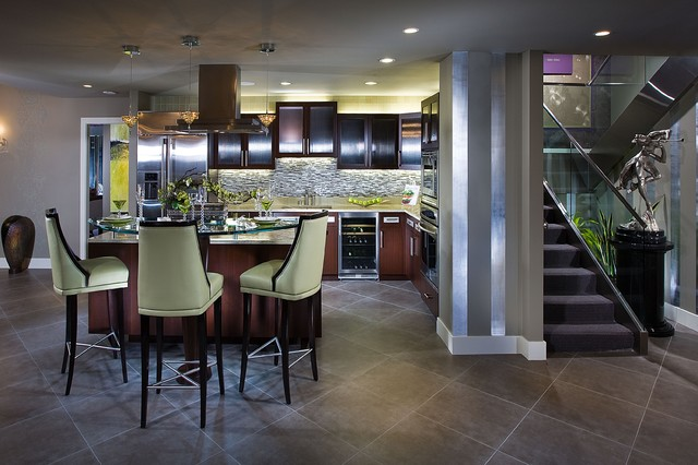 Hollywood Revival Nook contemporary-kitchen