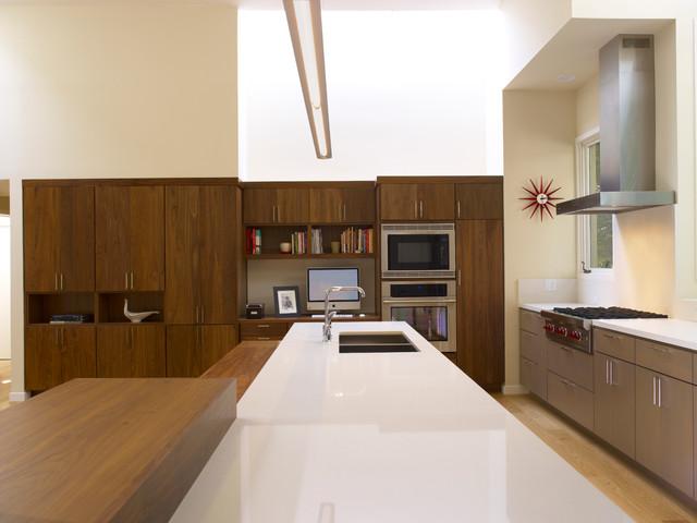 Kitchen office nook beyond modern kitchen san for Kitchen office nook