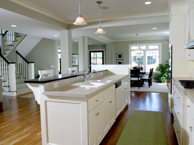 Kitchen open floor plan traditional kitchen for Traditional open floor plans