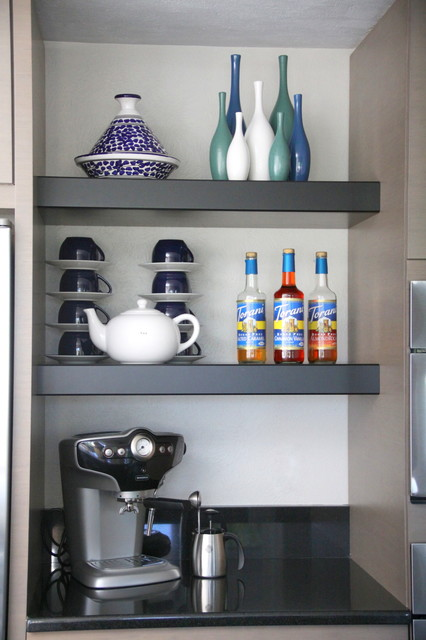 Coffee Bar Shelves Small Kitchens