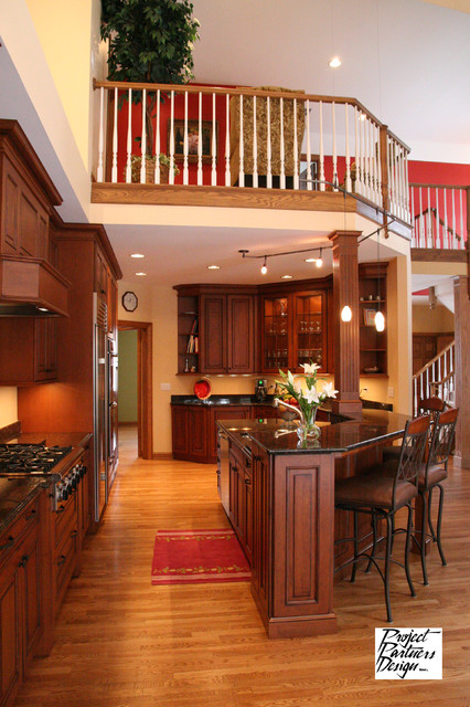 Kitchen Opens Up - Traditional - Kitchen - Chicago - by ...