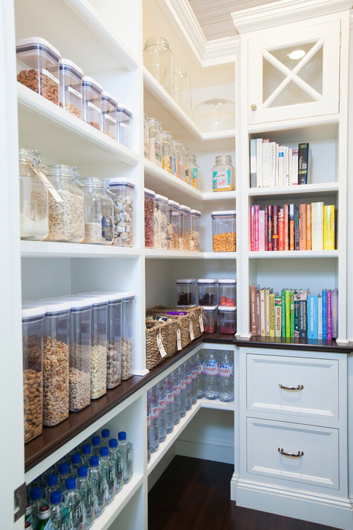 neat, organized pantry
