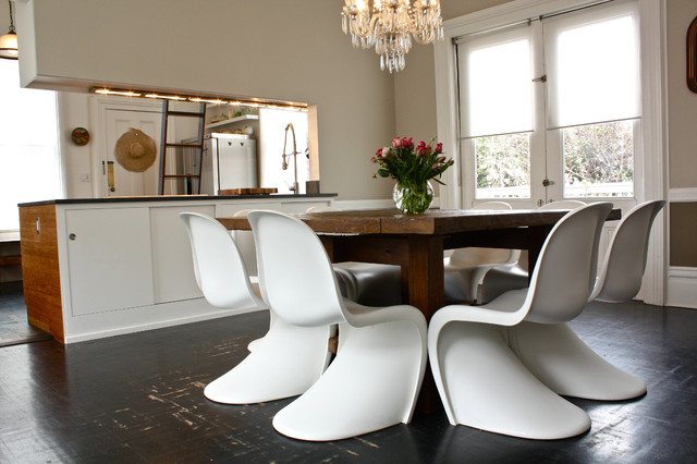 modern rustic dining rooms. Inspiration for an eclectic eat in kitchen remodel San Francisco with  flat panel Modern Rustic Dining Room Houzz