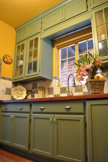 Kitchen Painted Cactus Mediterranean Kitchen