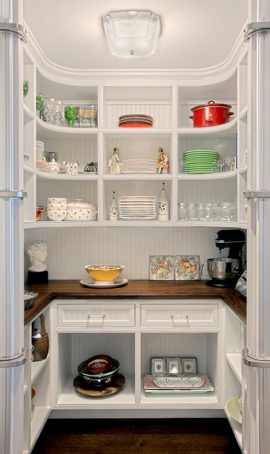 Kitchen Pantry w/Curved shelves traditional-kitchen