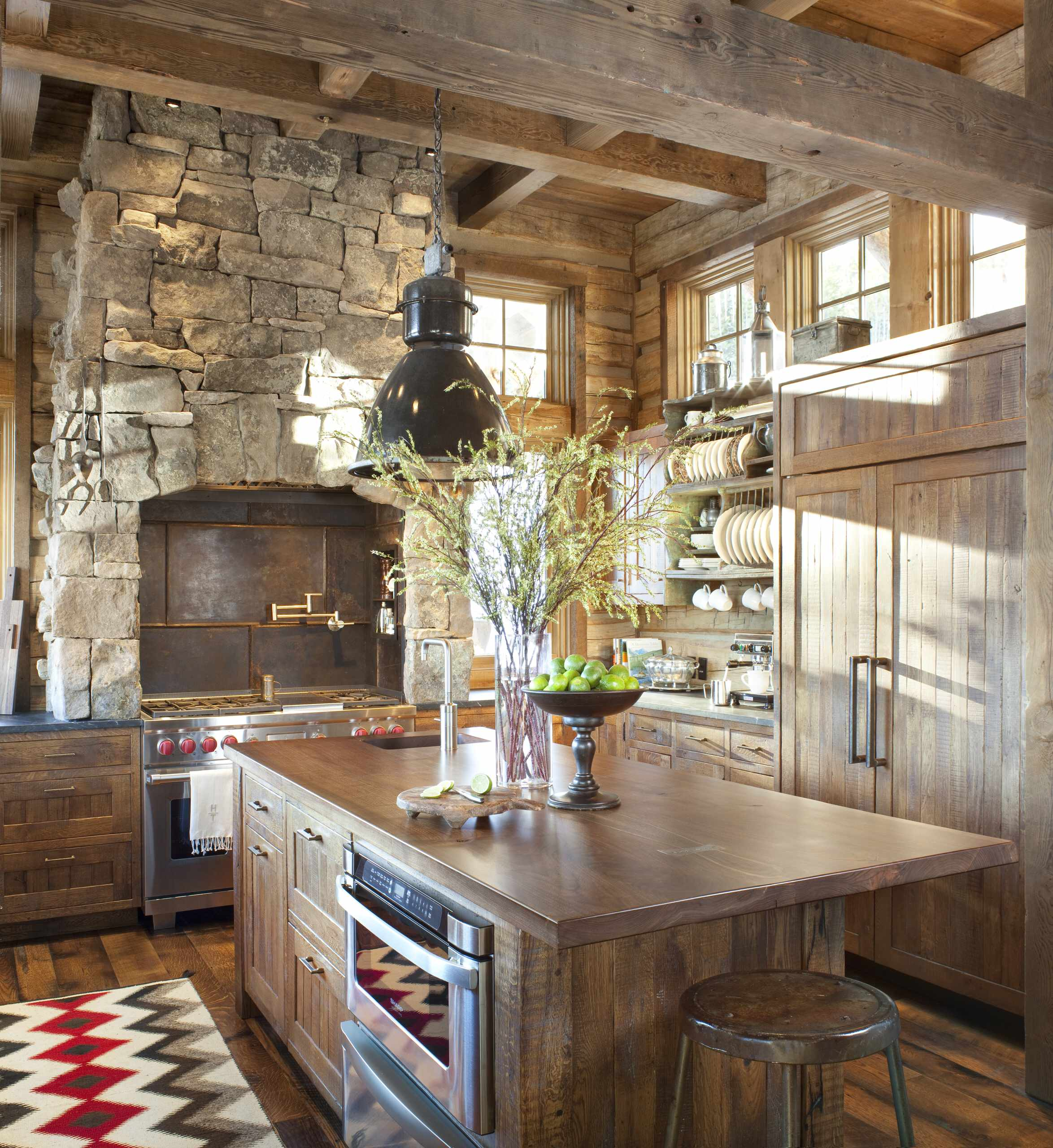 75 Beautiful Rustic Kitchen With Metal Backsplash Pictures Ideas November 2020 Houzz