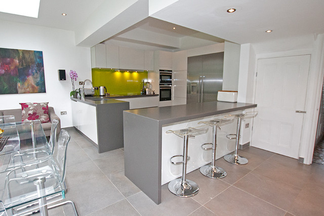 kitchen peninsula by lwk kitchens london modern