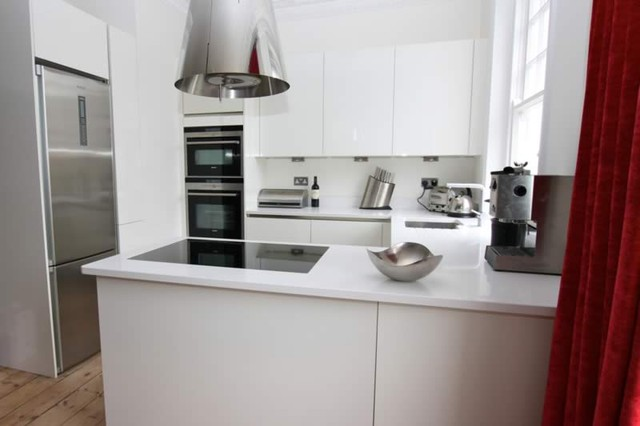 Kitchen peninsula by lwk kitchens london modern for G shape kitchen